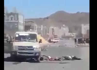 """فيديو: كمين يستهدف تعزيزات الحوثي بـ """"ي"""