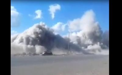 شـــاهـــد فيديو: لحظة تفجير منزل الشي