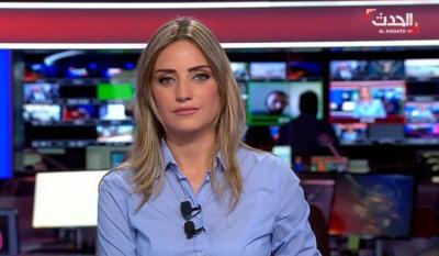 """مذيعة في قناة """"العربية"""" تنطق بلفظ خار"""