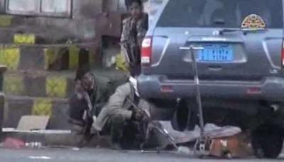 فيديو يظهر التوتر في محيط دار الرئاسة �