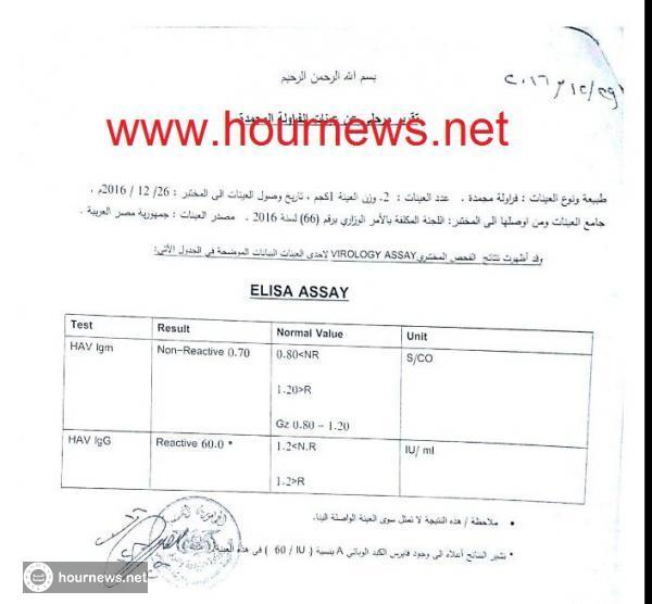 تحذير هام منتج الفراولة المصرية في الاسواق اليمنية ملوثة بفيروس الكبد الوبائي A وثائق