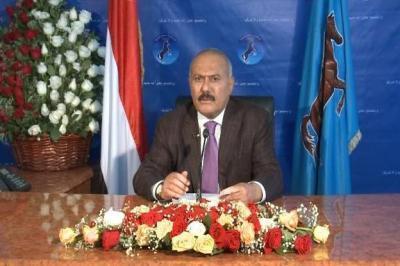 كلمة الرئيس السابق علي عبدالله صالح  في الذكرى الثانية لعاصفة الحزم  على اليمن (فيديو)