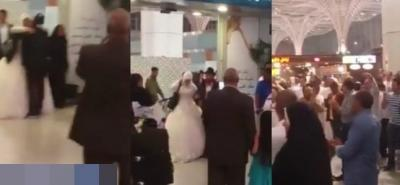 بالفيديو: القبض على عريس مصري بمطار المدينة المنورة
