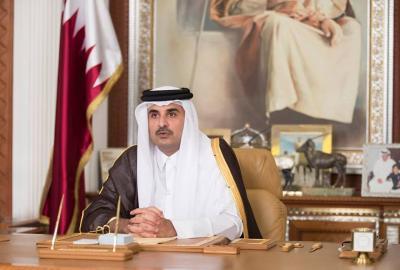 في اول خطاب له منذ بدء ازمة الخليج.. أمير قطر يضع شرطين لحل الخلاف