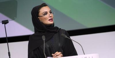 بالفيديو.. شاهد ما قالته الشيخة موزة والدة أمير قطر عن الحرب والحصار على اليمن