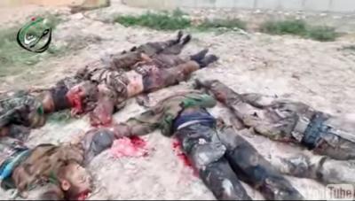 """""""بالفيديو"""" 152قتيلًا للنظام السوري في حلب بينهم يمنيين"""