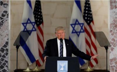 ترامب يدعو إسرائيل إلى الانضمام للتحالف الاسلامي الذي اقيم بالسعودية