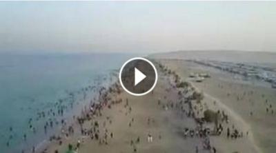 شاهد بالفيديو : شاطئ سيلين في قطر ثاني ايام عيد الفطر المبارك