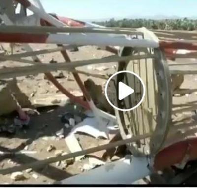 شاهد بالفيديو هذا مااستهدفه طيران التحالف السعودي اليوم في مطار صنعاء الدولي
